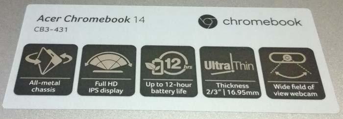 Die Spezifikationen meines Chromebooks