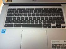 Die Tastatur des Chromebooks