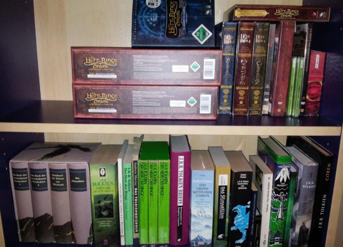 Einige Werke von und über Tolkien, die ich besitze