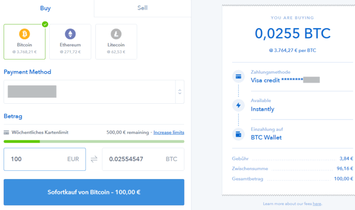 Bitcoin auf Coinbase kaufen