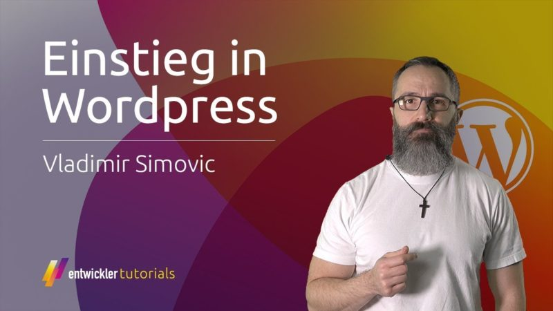 "Vladimir Simović: Video-Training ""Einstieg in WordPress"""