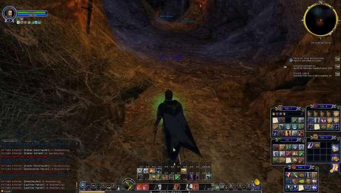 Screenshot aus Herr der Ringe Online: Kampf gegen Monster-Spinne