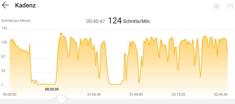 Schritt-Kadenz in der Huawei Health App